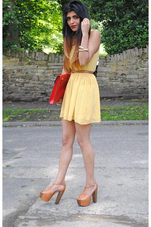 Glamorousuk dress - Ebay bag - asos heels - claw gold cuff Ebay bracelet