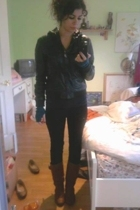 Steve Madden jacket - forever 21 shirt - J Brand pants - H&M gloves - Sheek boot