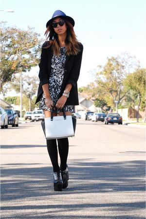 Roxy hat - H&M blazer - Michael Kors bag - Jeffrey Campbell heels - Mango romper