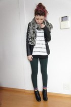 f21 sweater - Zara pants