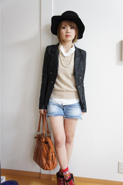 Forever21 shoes - Forever21 jacket - ANAP pants - vintage blouse