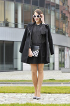 dotted new look blouse - checkered new look bag