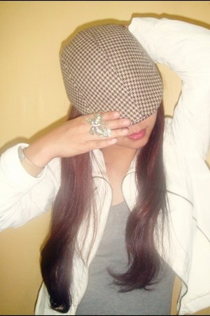checkered painters hat hat - Topshop jacket - bench top