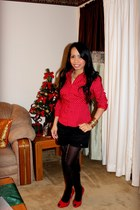 Express tights - red Charlotte Russe top