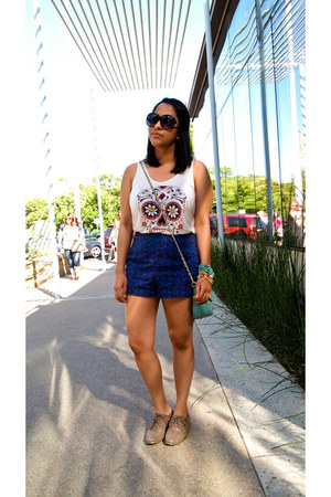 blue Urban Outfitters shorts