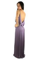 Ruffled Ultra Low Back Maxi Dress - Lavender