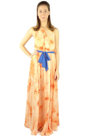 light orange HCB dress