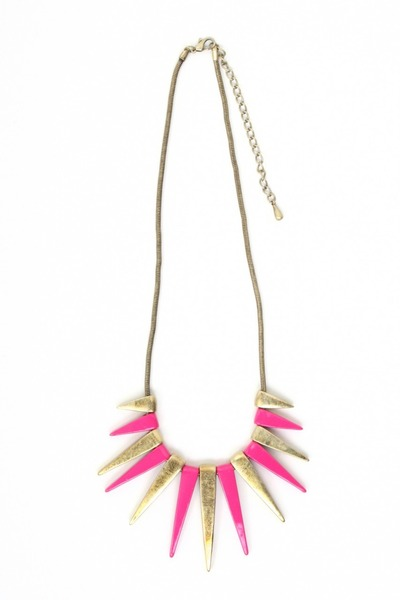 hot pink spike necklace