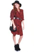 Brick-red-dress