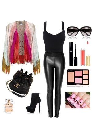 Faux leather pants pants