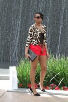 Forever 21 shorts - H&M cardigan - Zara heels