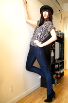 modcloth top - blue H&M jeans