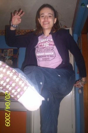 charity shop t-shirt - Mums - best friends jeans - Primark socks
