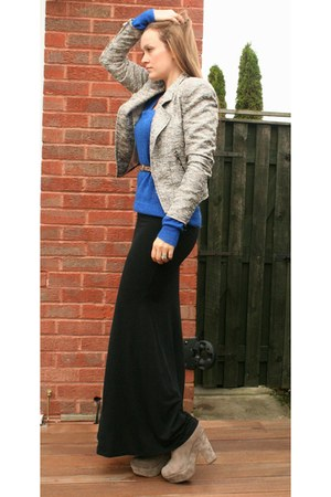 black maxi skirt new look skirt - silver suede platforms Office boots