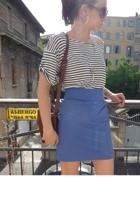 H&M shirt - H&M skirt - Zara shoes - vintage purse