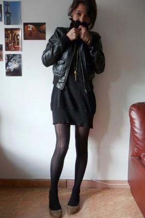 H&M jacket - Promod dress - Calzedonia tights - Zara shoes