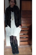 Zara dress - H&M jacket - none boots - H&M necklace