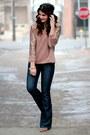 Dark-denim-seven-jeans-sequin-sleeve-target-top-forever-21-wedges