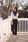 Ruffled-blue-shopruche-scarf-gap-blouse-plaid-trouser-target-pants