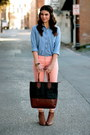Chambray-gap-shirt-pink-forever-21-jeans-target-bag