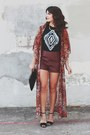Forever-21-bag-leather-forever-21-shorts-windsor-heels-kimono-riffraff-top