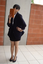 blazer - cotton on shirt - supre skirt - rubi - herme purse
