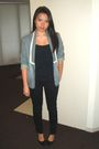 Blue-cotton-on-blazer-black-valley-girl-top-black-dotti-jeans-black-shoes