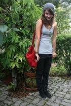 banana republic hat - walmart top - Bershka purse - SC pants - H&M shoes