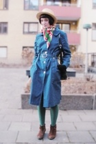 hat - scarf - coat - Indiska stockings - shoes - accessories