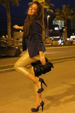 Zara blazer - DIY bag - GoJane heels