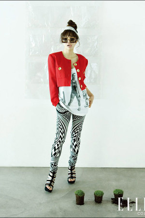elle accessories - elle blazer - elle leggings - elle shoes - elle blouse