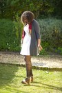 White-cotton-nsync-dress-red-cotton-ginger-mary-scarf-no-name-stockings