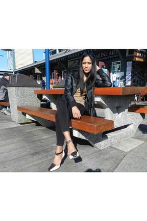 Jessica Simpson jeans - Kenneth Cole heels - Costa Blanca cardigan