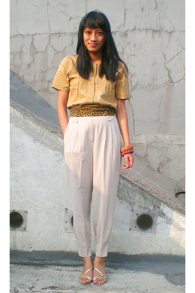 thrifted top - thrifted pants - thrifted scarf - Yongky Komaladi - JFK bracelet