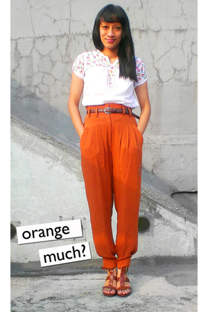 tanah abang top - thrifted pants - Daishoo belt - ITC M2 shoes