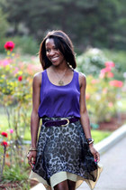 purple Mossimo top - charcoal gray Sugarlips skirt - deep purple thrifted belt