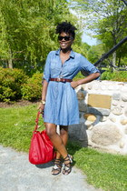Lucky Brand sandals - H&M dress - Zara bag - H&M belt