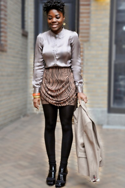 H&M top - Aldo shoes - banana republic blazer - H&M skirt