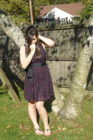 Forever 21 dress - Forever21 earrings - Marshalls shoes - vintage bracelet