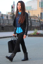 Primark top - Primark boots - new look jacket - Zara bag
