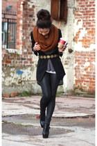 Primark scarf - asos boots - Zara belt