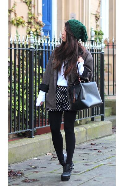 River Island hat - asos boots - Primark jacket - Zara bag - Primark shorts