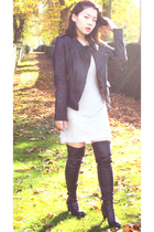 Zara jacket - unknown dress - Zara boots