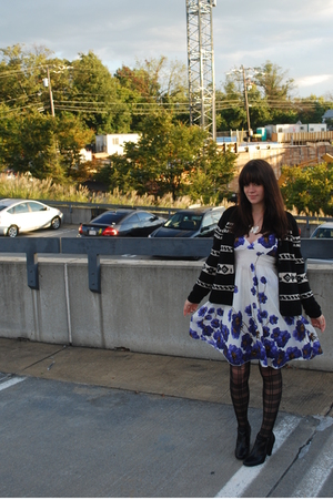 sweater - Forever 21 dress - Urban Outfitters stockings - payless shoes