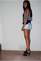 H&M vest - Alexander Wang top - Forever21 shorts - payless - shoes