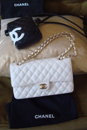 white Chanel lambskin 255 accessories - black Chanel accessories