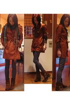 brown Zara blazer - brown Alexander McQueen blouse - brown REPLAY boots - blue l