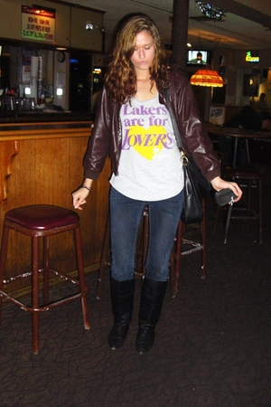 blue Levis jeans - black delias boots - Urban Outfitters shirt - brown Thrift St