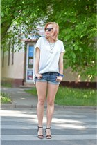 nowIStyle shirt - denim H&M shorts - H&M sunglasses - H&M sandals