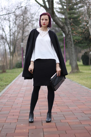 nowIStyle boots - nowIStyle shirt - nowIStyle skirt - Massimo Dutti cape